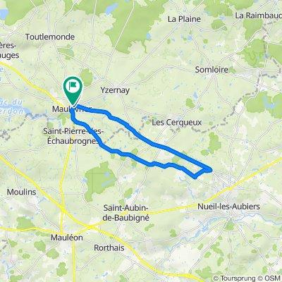 De Rue de Briançon 31, Maulevrier à Rue Sainte-Catherine 15, Maulevrier
