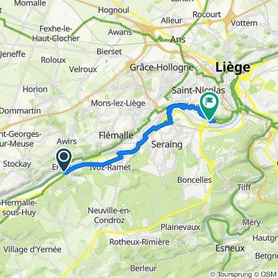 De Pont d'Engis, Engis à Rue de l'Avouerie 50–64, Liège