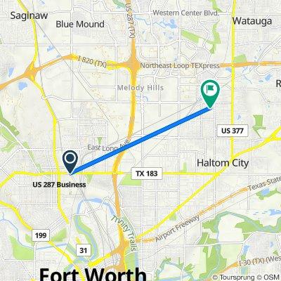 NE 28th St, Fort Worth to 5009 Sabelle Ln, Haltom City