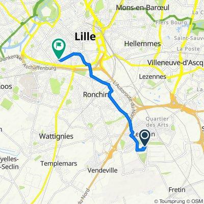 De 1 Allée de l'Innovation, Lesquin à 24 Rue Kuhlmann, Lille