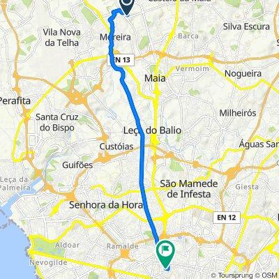 De Rua Carlos Alberto Taipa Teles Menezes 70, Moreira a Rua de Serpa Pinto 161, Porto