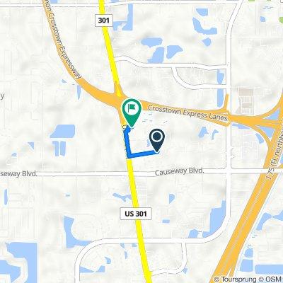 10100–10498 Alambra Ave, Tampa to 2210 US-301 N, Tampa