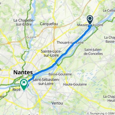 De 1B–3 Rue du Cellier, Mauves-sur-Loire à Place du 8 Mai 1945, Rezé