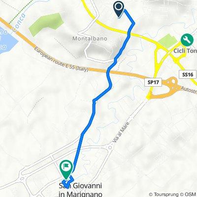 Da Via Amerigo Vespucci 46, Montalbano a Via Vittorio Veneto 15, San Giovanni in Marignano