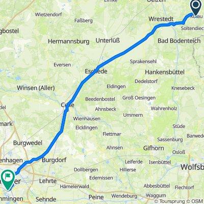 Kölau 1, Suhlendorf to Riepestraße 9, Hannover