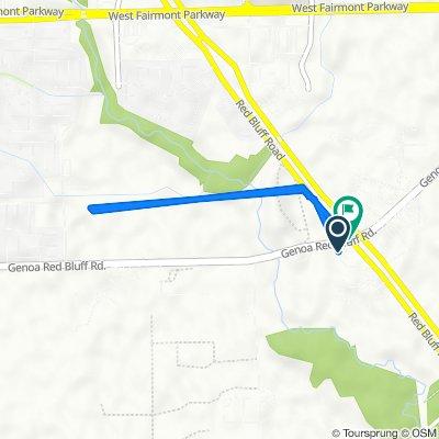 5300 Red Bluff Rd, Pasadena to Genoa Red Bluff Rd, Pasadena