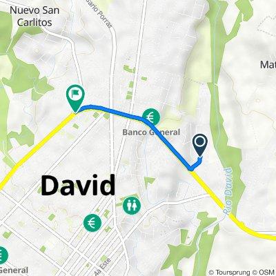 De Calle A, David a Carretera Interamericana, David