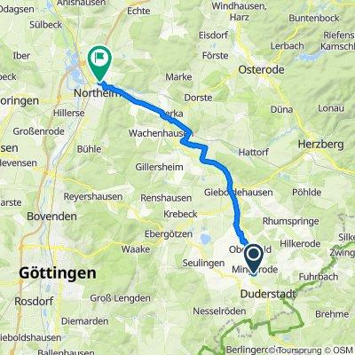 Suthfeldring 9, Duderstadt nach Scharnhorstplatz 8, Northeim