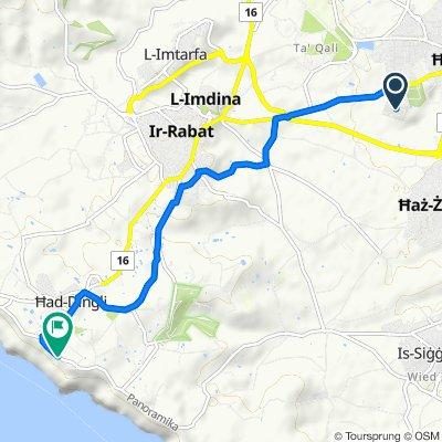 Route to Triq Panoramika, Dingli