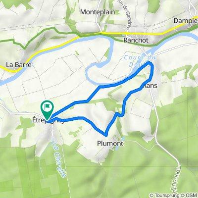 Rue de l'Église 2, Étrepigney to Rue de l'Église 2, Étrepigney