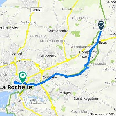 De Chemin des Épinettes, Dompierre-sur-Mer à Rue Gambetta, La Rochelle