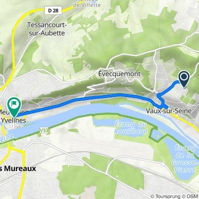 De 2–17 Chemin des Plâtrières, Vaux-sur-Seine à 1 Rue Cheronnet, Meulan-en-Yvelines