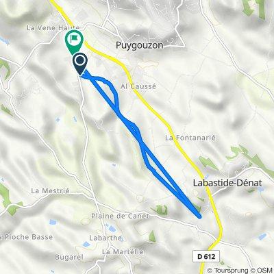 De 2 Impasse Foun Fabrenque, Puygouzon à 901 Route de Lamillarié, Puygouzon