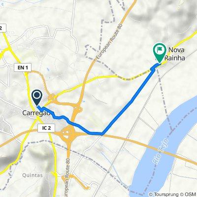 De Rua Castelo Melhor 26A, Carregado a Rua Sacadura Cabral 16, Vila Nova da Rainha