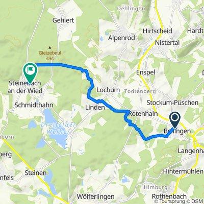 Hauptstraße 6, Bellingen nach Am Alten Hof 9, Steinebach an der Wied