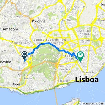 Avenida dos Cavaleiros, Alfragide to Rua Luciano Cordeiro 69, Lisbon