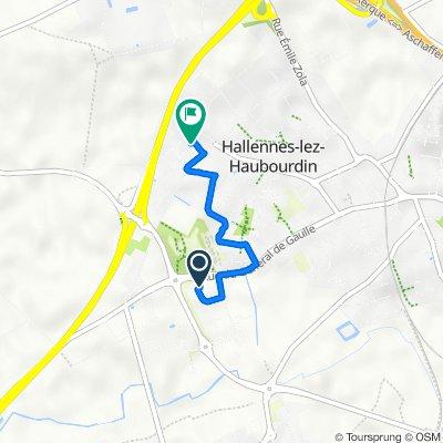 De Rue des Bourreliers 240, Hallennes-lez-Haubourdin à Rue Jacques Becq 2/12, Hallennes-lez-Haubourdin