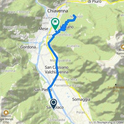 Da Via alla Latteria 15A, Samolaco a Via Balzoo 7, Prata Camportaccio