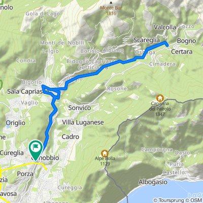 Da Via Massagno 12, Canobbio a Via Massagno 14, Canobbio