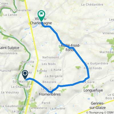 La Maison Neuve du Chêne V, Fromentières to 2–10 Rue Charles de Gaulle, Villiers-Charlemagne