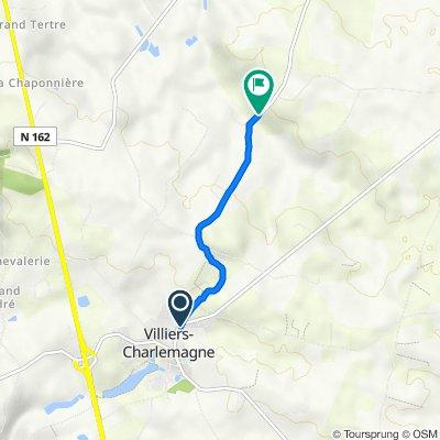 51 Rue Charles de Gaulle, Villiers-Charlemagne to D575, Le Bignon-du-Maine