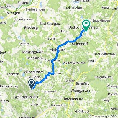 Oberhomberg 26–28, Wittenhofen nach Griesweg 8, Bad Schussenried