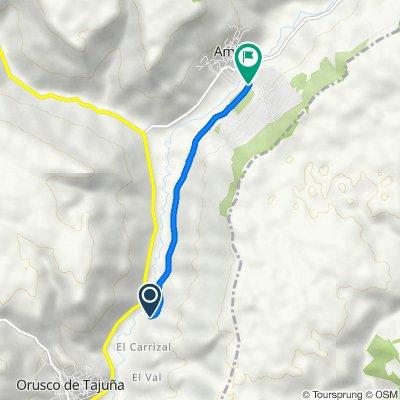 De Camino del Carrizal, Orusco de Tajuña a Calle Tilo, 6B, Ambite