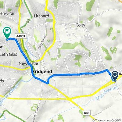 A473, Waterton Industrial Estate, Bridgend to 94 Merlin Crescent, Bridgend