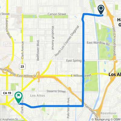 East Carson Street 11451, Lakewood to East Atherton Street 16, Long Beach