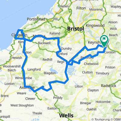 Saltford - Cheddar - Clevdon - Nailsea - Winford