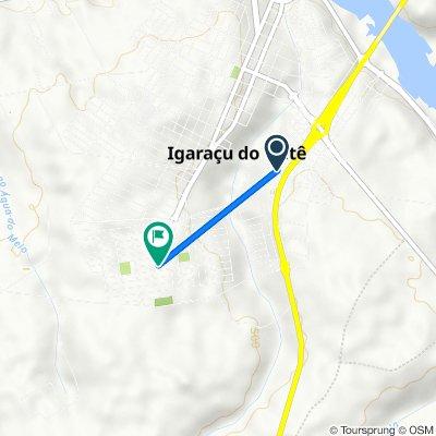 De Rua Francisco Perez Baloni, 133–239, Igaraçu do Tietê a Rua Manoel Gimenes, 1–165, Igaraçu do Tietê