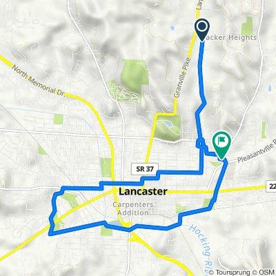 Route to Medill E, Lancaster