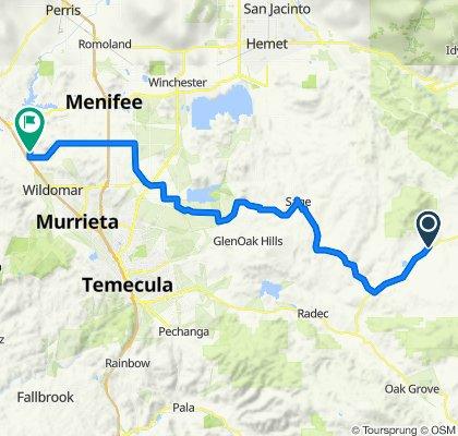 50446–50636 Cahuilla Rd, Anza to 33589 View Crest Dr, Wildomar