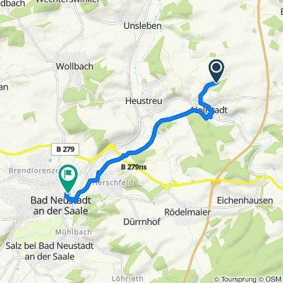 Route nach Meininger Straße 25, Bad Neustadt