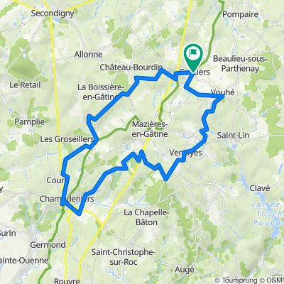 De D131 1, Saint-Pardoux-Soutiers à D131 1, Saint-Pardoux-Soutiers