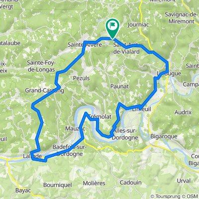 St. Avit Loisirs Campsite Route