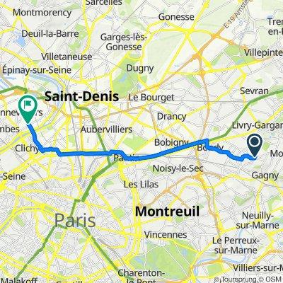 De 5 Boulevard de l'Est, Le Raincy à 9 Rue de la Sablière, Genneviliers