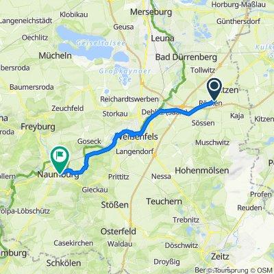 L188, Lützen nach Curt-Becker-Platz 6, Naumburg (Saale)