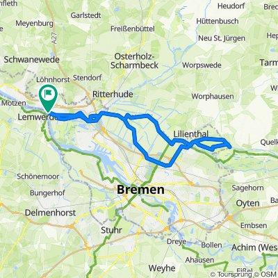 Blick auf die Wümme – Borgfelder Wümmewiesen Runde von Borgfeld-West