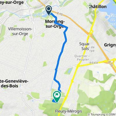 De 3 Rue Marcel Cachin, Morsang-sur-Orge à Chemin Vert, Sainte-Geneviève-des-Bois