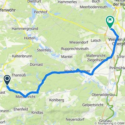 Wagnergaßl 2, Freihung nach Parksteiner Straße 52–62, Weiden in der Oberpfalz