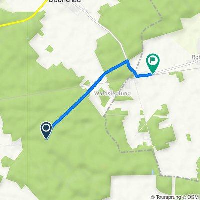 Route nach Bahnhofstraße, Falkenberg/Elster