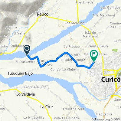 De Cruce J-620 (Tutuquén Bajo) - El Durazno, Curicó a Raúl Gormaz Molina 1642–1656, Curicó
