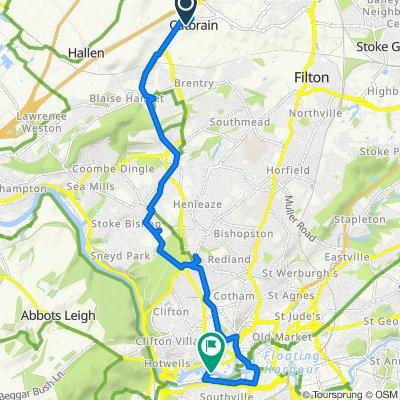 17 New Charlton Way, Bristol to Wapping Wharf, Gasferry Road, Bristol