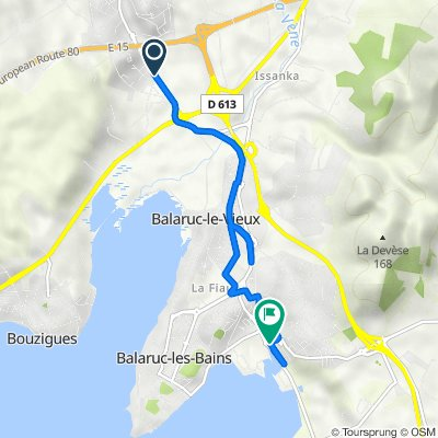 De Avenue de Sète, Poussan à Avenue du Serpentin, Balaruc-les-Bains