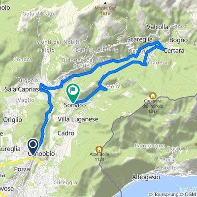 Da Via Massagno 19A, Canobbio a Strada della Castellanza 109, Sonvico