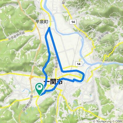 一関・平泉 ― 磐井川沿いと整備された田園風景,国道4号 / Ichinoseki, Hiraizumi - Along Rv.Iwai, Arranged rice paddy and National Route 4