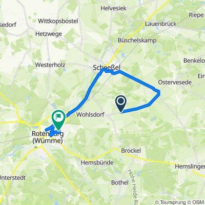Veseder Straße, Scheeßel nach Erfurter Straße 5, Rotenburg (Wümme)