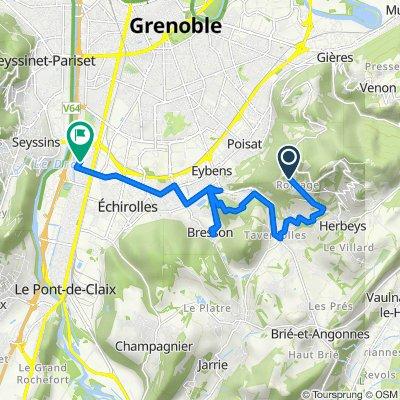 De 130 Chemin du Mûrier, Poisat à 27 Allée Maurice Ravel, Échirolles