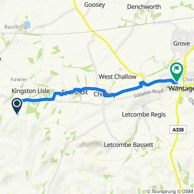 The Ridgeway, Kingston Warren, Wantage to 46 Mill St, Wantage